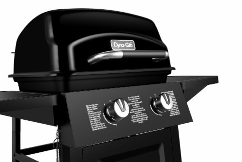 Dyna-Glo 2 Burner Open Cart LP Gas Grill - Black Perspective: left