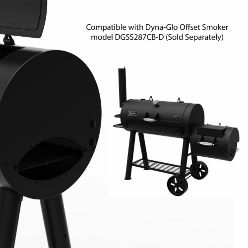 Dyna-Glo Signature Series Heavy-Duty Barrel Charcoal Grill Perspective: left