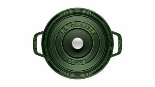 Staub Cast Iron 7-qt Round Cocotte - Basil Perspective: left