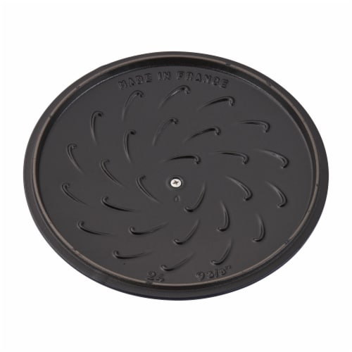 Staub Cast Iron 3.75-qt Essential French Oven Rooster - Dark Blue Perspective: left