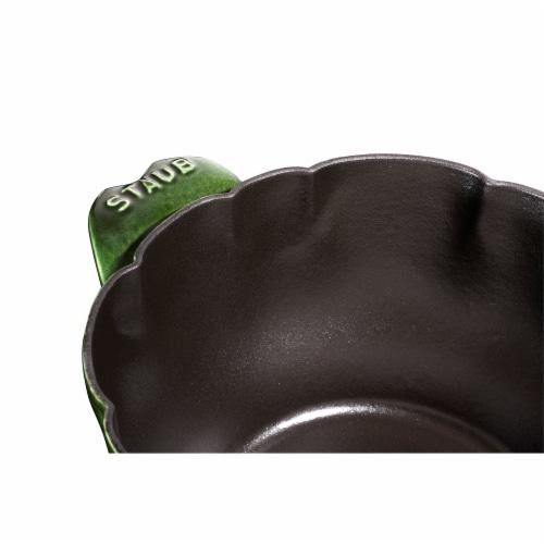 Staub Cast Iron 3-qt Artichoke Cocotte - Basil Perspective: left