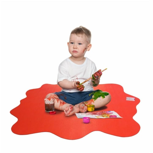 40  x 40  Multipurpose Mat For Hard Floor in Red Perspective: left