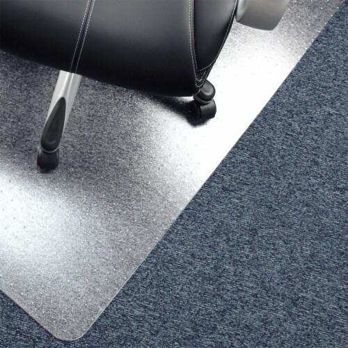 Floortex Cleartex Advantagemat 48 x 60  Vinyl Office or Home Floor Chair Mat Perspective: left