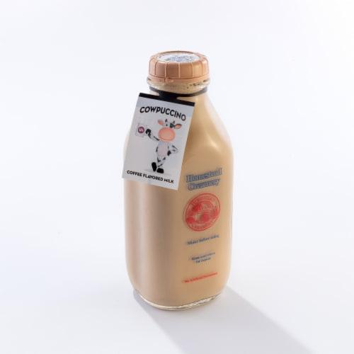 Homestead Creamery Cowpuccino Coffee Flavored Milk Perspective: left