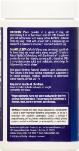 Natural Vitality Calm Specifics Calmful Sleep Mixed Berry Flavor Sleep Support Supplement Perspective: left