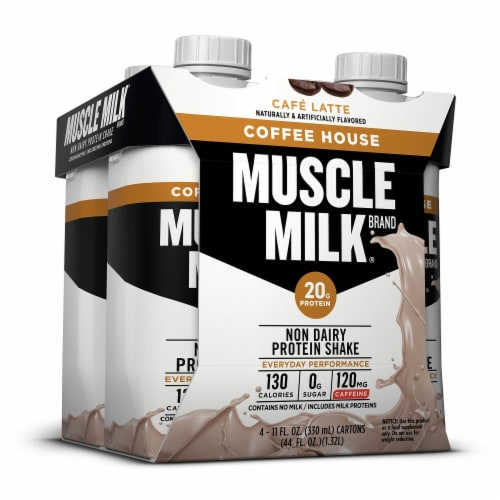 Muscle Milk Protein Shakes Coffee House Café Lattes Perspective: left