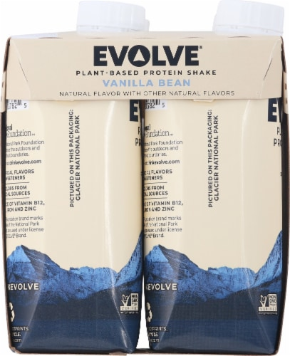 Evolve Protein Shakes Vanilla Plant Based Protein Shake Perspective: left