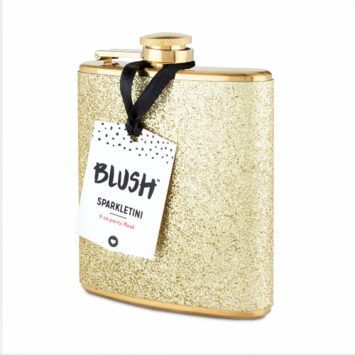 Sparkletini Stainless Steel Gold Flask by Blush® Perspective: left