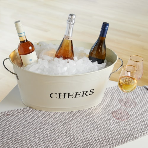 Cheers Galvanized Metal Tub by Twine® Perspective: left