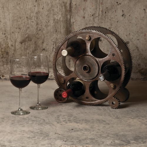 Gears And Wheels Wine Rack by Foster & Rye™ Perspective: left