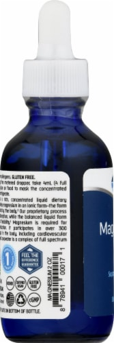 Trace Minerals Ionic Magnesium Dietary Supplement 400mg Perspective: left