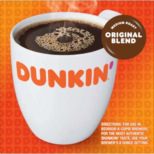 Dunkin' Donuts Original Blend Coffee K-Cup Pods Perspective: left