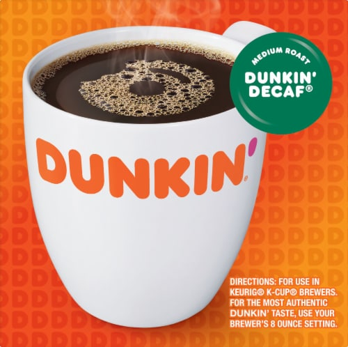 Dunkin' Donuts Decaf Coffee K-Cup® Pods Perspective: left