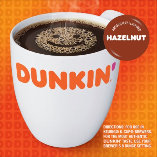 Dunkin' Donuts Hazelnut K-Cup Pods Perspective: left