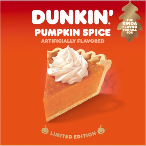 Dunkin' Donuts Pumpkin Spice K-Cup Pods Perspective: left