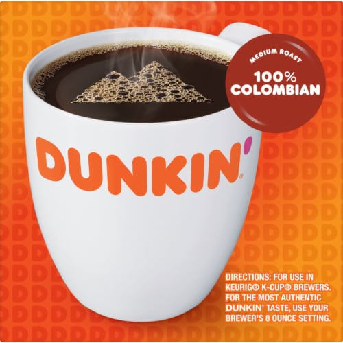 Dunkin' Donuts Colombian Coffee K-Cup Pods Perspective: left