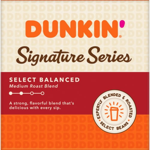 Dunkin' Signature Series Medium Roast Blend K-Cup Pods 10 Count Perspective: left