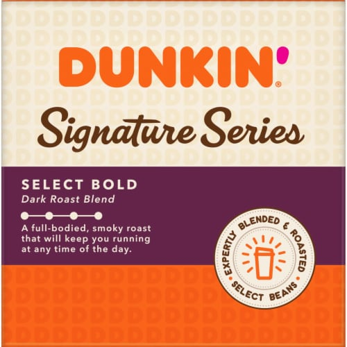 Dunkin' Signature Series Select Bold Dark Roast Blend K-Cup Coffee Pods Perspective: left