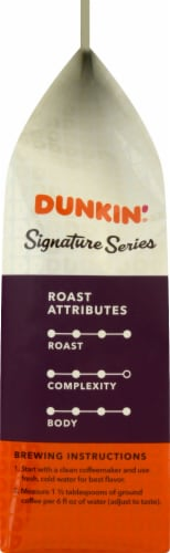 Dunkin' Signature Series Select Bold Dark Roast Blend Ground Coffee Perspective: left