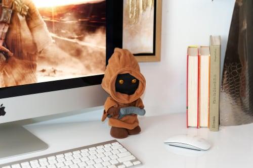 "Stuffed Star Wars Plush Toy - 9"" Talking Jawa Doll Perspective: left"