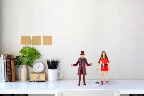 """Doctor Who The Impossible Set w/ 11th Doctor & Oswin Oswald 5"""" Action Figures Perspective: left"""