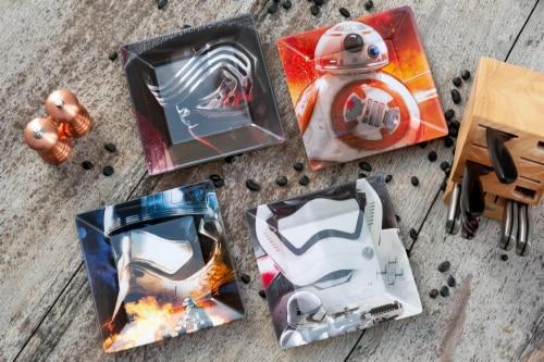 Star Wars Melamine Plate Set - 4 Pieces - Stormtrooper, Kylo Ren, and BB8 Perspective: left