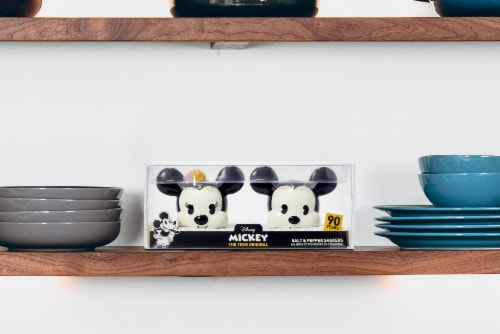 Disney Mickey Mouse & Minnie Mouse Salt & Pepper Shaker Set | Ceramic Shakers Perspective: left