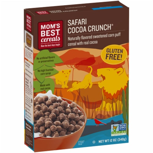 Mom's Best Safari Cocoa Crunch Cereal Perspective: left