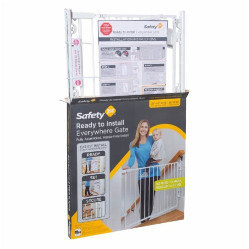 """Safety 1st Ready to Install Hardware Mount 30"""" Tall & 42"""" Wide Baby Safety Gate Perspective: left"""