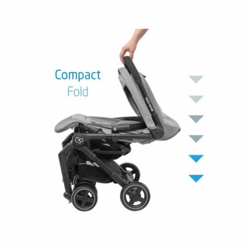 Maxi-Cosi Lara Travel Easy Fold Lightweight Canopy Baby Stroller, Nomad Red Perspective: left