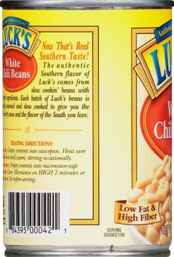 Luck's White Chili Beans Perspective: left
