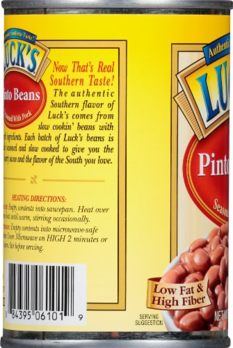 Luck's Pinto Beans Seasoned with Pork Perspective: left