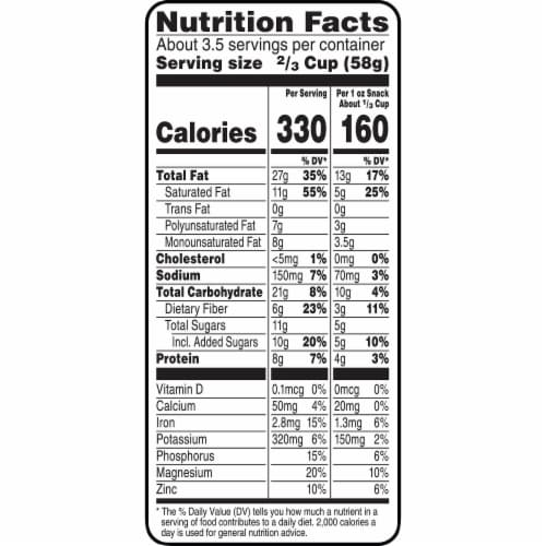 Bear Naked Grain Free Dark Chocolate Almond Granola Perspective: left