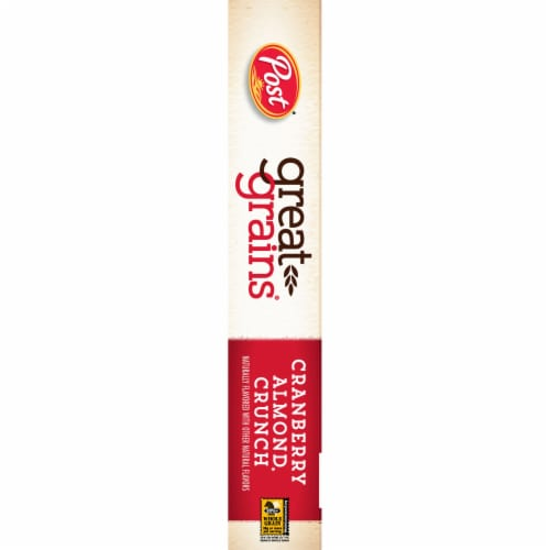 Post Great Grains Cranberry Almond Crunch Cereal Perspective: left