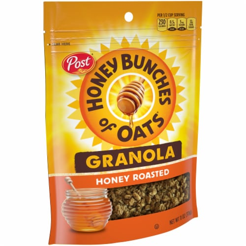 Honey Bunches of Oats Honey Roasted Granola Perspective: left