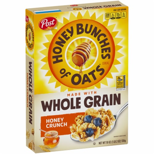 Post Honey Bunches of Oats Whole Grain Honey Crunch Cereal Perspective: left