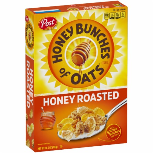Honey Bunches of Oats Honey Roasted Cereal Perspective: left