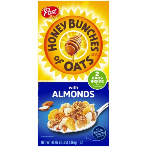 Honey Bunches of Oats with Almonds Cereal 2 Count Perspective: left