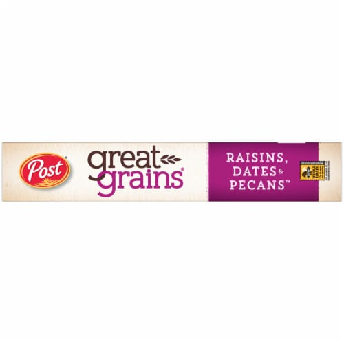Post Great Grains Raisins Dates & Pecans Cereal Perspective: left