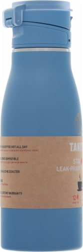 Takeya Actives Traveler Insulated Stainless Steel Bottle with Flip Cap - Bluestone Perspective: left