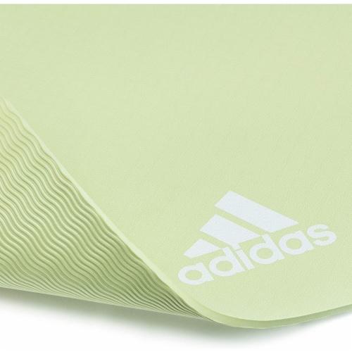 Adidas Universal Exercise Slip Resistant Fitness Yoga Mat, 8mm, Aero Green Perspective: left