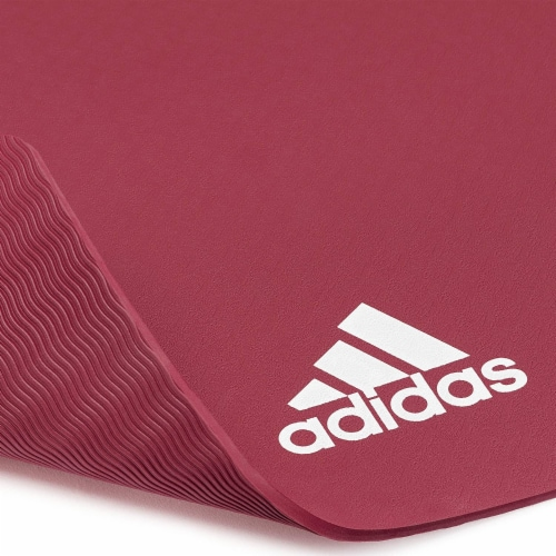 Adidas Universal Exercise Slip Resistant Fitness Yoga Mat, 8mm, Mystery Ruby Perspective: left