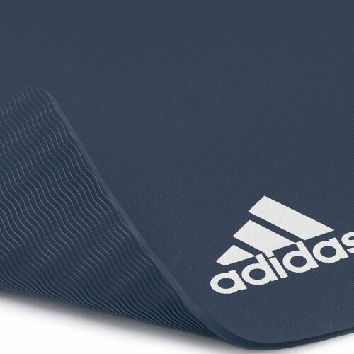 Adidas Universal Exercise Slip Resistant Fitness Yoga Mat, 8mm, Trace Blue Perspective: left