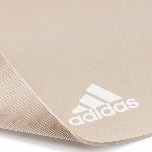 Adidas Universal Exercise Slip Resistant Fitness Yoga Mat, 8mm, Vapor Grey Perspective: left