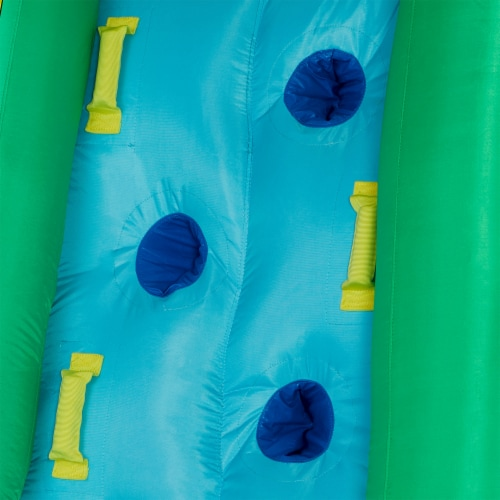 Kahuna 90475 Twin Peaks Kids Inflatable Splash Pool Backyard Water Slide Park Perspective: left