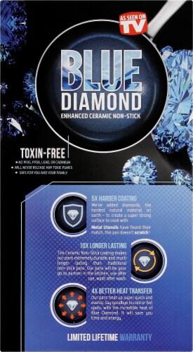 Blue Diamond Cookware Set - Blue Perspective: left