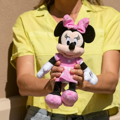 Disney Minnie Mouse 11 inch Child Plush Toy Stuffed Character Doll in Pink Dress Perspective: left