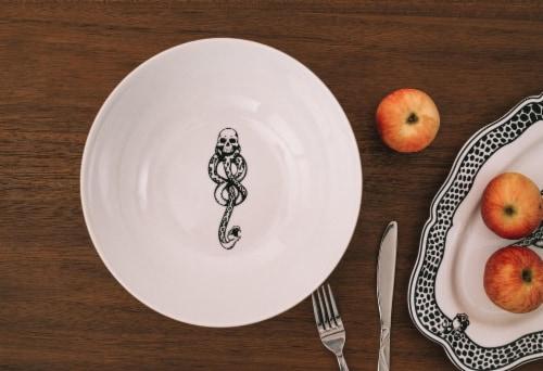 Harry Potter Voldemort Death Eater Ceramic Large Serving Bowl | 10.5-Inch Bowl Perspective: left