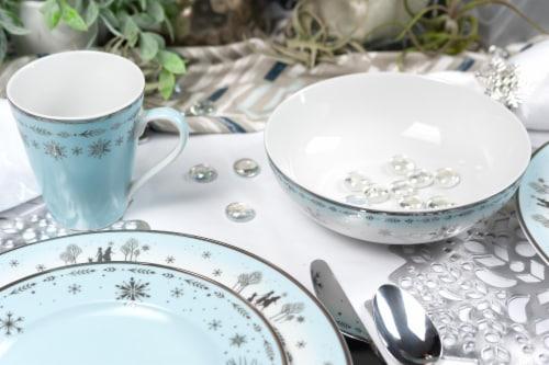 Disney Frozen 2 Anna & Elsa Ceramic Dining Set Collection | 16-Piece Dinner Set Perspective: left