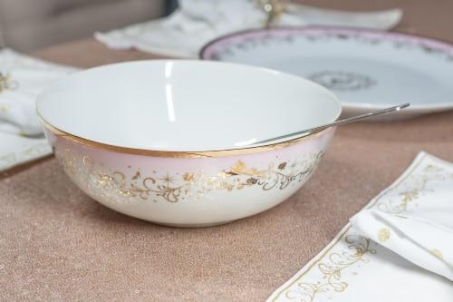 Disney Princess Ceramic Serving Bowl | Elegant Dinner Bowl Measures 10.5 Inches Perspective: left